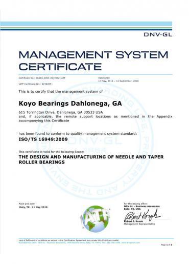Certificado do Sistema de Gestão